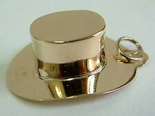 COLLECTORS 9CT GOLD VINTAGE COWBOY HAT 3D CHARM/PENDANT