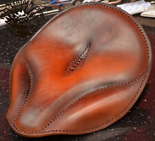 Bobber sede talla s solo seat Harley softail Oldtime Custom Chopper Hell tan