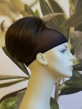 "MEDIUM  BROWN "" BEEHIVE "" BUN HAIR PIECE UPDO EXTENSION #12 UK SELLER"