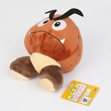 Nintendo Super Mario Brown Goomba Plush Stuffed Toy Mushroom Figure Gift