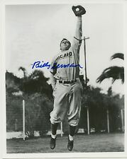 1930s Photo of Leaping Cubs HOFer Billy Herman with AUTOGRAPH