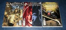 ASSASSINS CREED #1 2 3 1st print variant set TITAN COMIC UBISOFT based on game