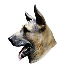 German Shepherd Mask Dog Alsatian Latex Full Head Halloween Canine Fancy Dress