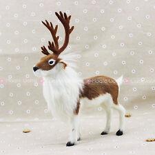 "Furry Reindeer Deer Christmas Ornament Decoration Adornment Fleece Wool H10.5"""