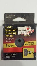 "Lot 2-1/2"" x 3/8"" mounted grinding wheel (qty 4)"
