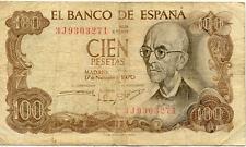 ESPAGNE SPAIN ESPANA 100 PTS 1970 état voir scan 271