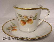 HUTSCHENREUTHER china FRUIT (Noblesse Shape) pattern Cup & Saucer - Strawberry