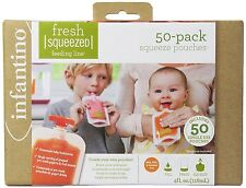 Infantino Squeeze Pouches,50 Count from Infantino Child safe cap freezer safe ..