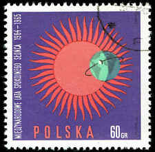 Scott # 1343 - 1965 - ' IQSY Emblem ', International Quiet Sun Year 1964-5