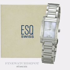 Authentic Ladies ESQ Swiss Stainless Steel Kingston Diamond Watch 07101331