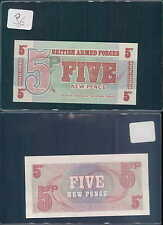 BRITISH ARMED FORCES GREAT BRITAIN 5 NEW POUND 1972 UNC (rif. 96)