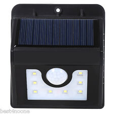 Outdoor 8 LEDs Solar Powered Motion Sensor Garden Light Waterproof Wall Lamp new