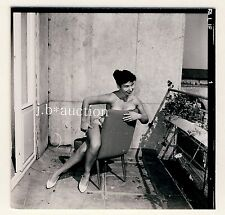 NUDE GERMAN PINUP GIRL TANLINES / NACKTES MODELL * 60s SEUFERT Contact Print #10