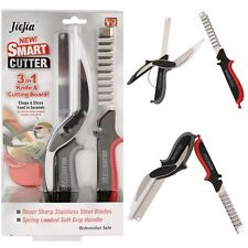 HOT! Newest 3-in-1 Clever Cutter Knife & Cutting Board Scissors As Seen On TV