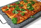 Baking Pizza Bread Stone Large Granite Rectangular Cook Ware 15 x 12 Inches