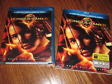 The Hunger Games (Blu-ray Disc, 2012,2-Disc Set) W/Slipcover] NEW; I Ship Faster