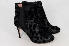 Red V Women's Leather Ankle Boot Heel Black, UK 6.5 / EU 39