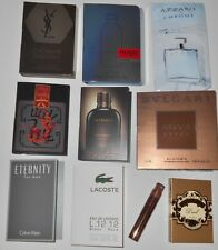 10 Mens Cologne Samples Lot Dolce & Gabanna Bvlgari Azzaro Hugo CK Lacoste YSL