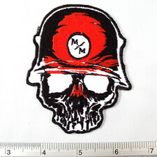 Metal Mulisha Band embroidered iron on patches appliques 3x3.5""