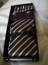 100% silk neck tie set, cufflinks and hankerchief!