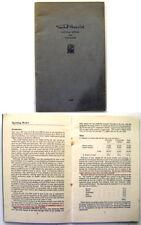Vauxhall Motors Ltd 1947 original Annual Report & Accounts Booklet