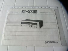 Kenwood KT-5300 Owner's Manual  Operating Instructions Istruzioni