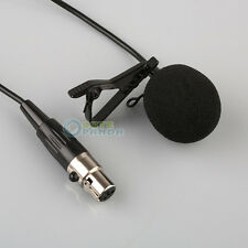Lavalier Lapel Tie-clip Microphone for Shure Wireless Mini 4 PIN XLR