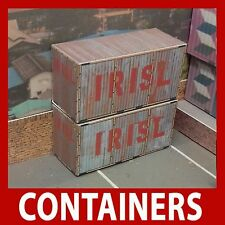 "OO ""IRISL Iran Shipping Lines Pre-Weathered"" Containers Model Card Kits 20ft x 4"