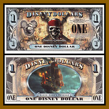 "Disney 1 Dollar, 2011 ""E"" Series 5 Digit Serial Pirates of the Caribbean Unc"