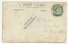 1910 publicado en la Marguerite 2/line cachet violeta Rp Postal De Barco En El Mar