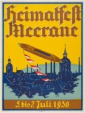 Original Vintage HEIMATFEST MEERANE Poster on Linen - FROM HANS SACHS COLLECTION