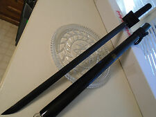 "Shinwa Black Ninja Fighting Katana Sword Knife Full Tang 1045 Carbon 41 1/2"" OA"