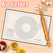 Silicone Rolling Cake Dough Mat Pastry Clay Fondant Baking Sheet 60x40cm OZ