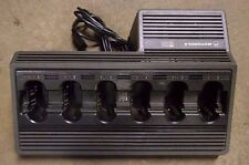 Motorola 6 Bay Gang Base Battery Charger Saber Astro R III MX1000 MX2000 MX3000
