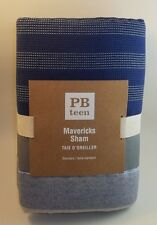 Pottery Barn Teen Standard Mavericks Sham Blue and Gray Striped