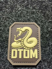 MIL SPEC MONKEY DTOM tactical PVC rubber  MORALE PATCH ITEM #4