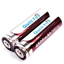 2 x Qulit Fire 4500 mAh / 9,6 Wh Lithium Ionen Akku 3,7 V Typ 18650 battery pack