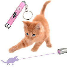 Interactive led Training Funny Cat Play Toy Laser Pointer Pen Mouse Animation JP