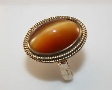 100%,  Genuine Vintage 14k Gold filled Agate ring.