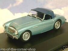 OXFORD DIECAST 1/43 AUSTIN HEALEY 100 BN1 WITH RAISED HOOD IN HEALEY BLUE AH1001