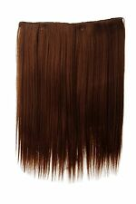 Postiche large Extensions cheveux 5 Clips lisse Braun Marron cuivre 45cm