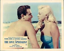 THE LOVE SPECIALIST LOBBY CARD DIANA DORS SWIMSUIT VITTORIO GASSMAN BARECHESTED