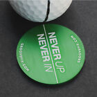 'Never Up, Never In' BIG golf ball marker from GrooveFix