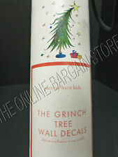 Pottery Barn Kids Christmas Holiday The Grinch Wall Decal Stickers 18 Piece