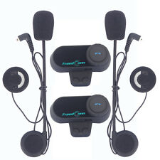 2x 800m Motorcycle Bluetooth Intercom Helmet Two Way Talking Chatterbox Headsets
