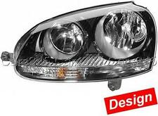 HELLA VW Golf Mk5 Jetta Mk3 2004- Black Headlights SET Left Right