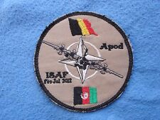 very rare Belgian Belgium ISAF Afghanistan 2012 Air Force Patch