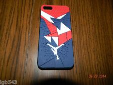 MIP- Jordan IV Shoe Sole Shell cover Navy Red design for i phone 5 and 5s