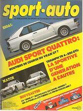 SPORT AUTO 283 1985 AUDI SPORT QUATTRO GP FRANCE GP ANGLETERRE NOUVELLE ZELANDE