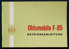 Owner's Manual * Betriebsanleitung 1965 Oldsmobile F-85   (D)